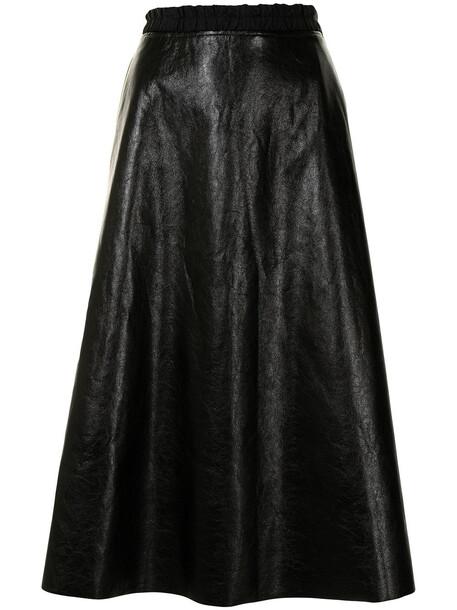 Moncler A-line midi skirt - Black