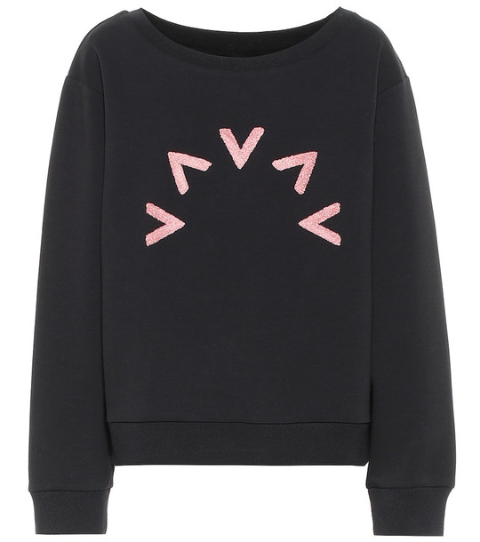 Varley Chalmers cotton-blend sweatshirt in black