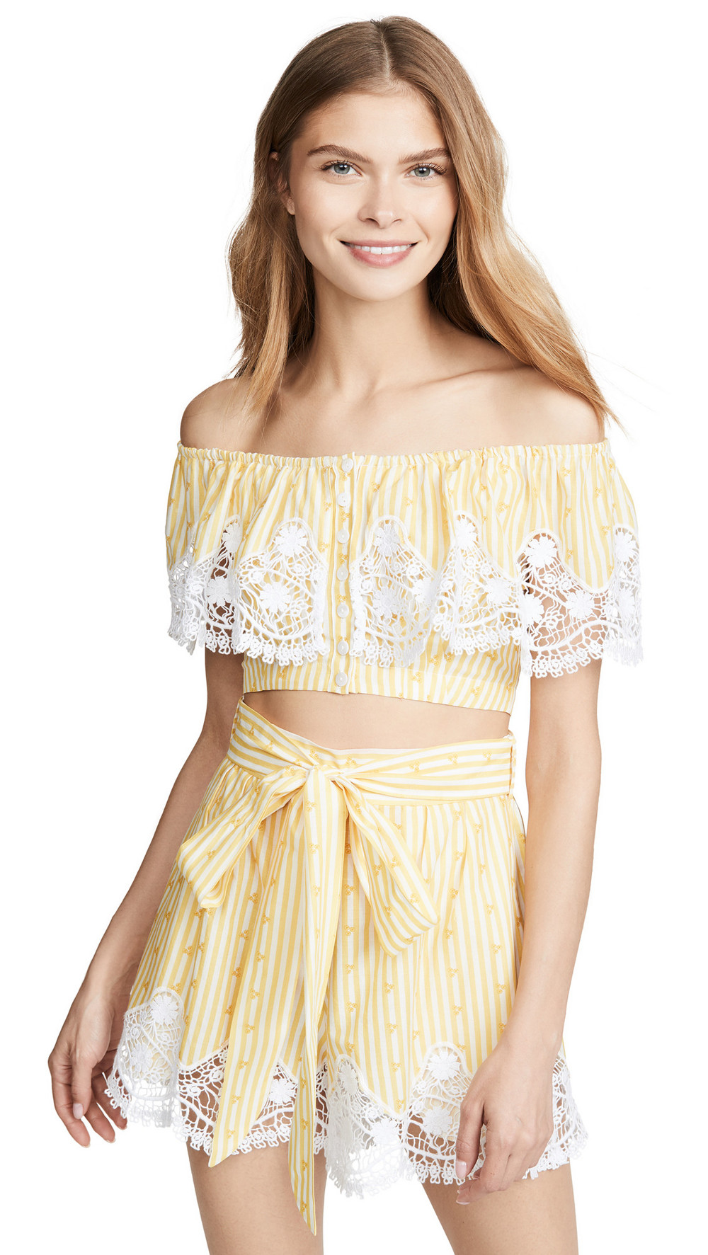 Miguelina Jenna Top in yellow