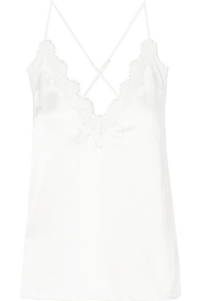 Cami NYC - The Everly Lace-trimmed Silk-charmeuse Camisole - White
