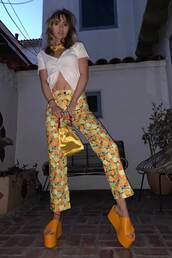pants,suki waterhouse,celebrity,mules,top,instagram