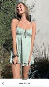 dress,pastel mint green dress