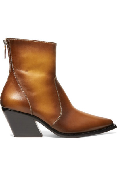 Givenchy - Leather Ankle Boots - Tan