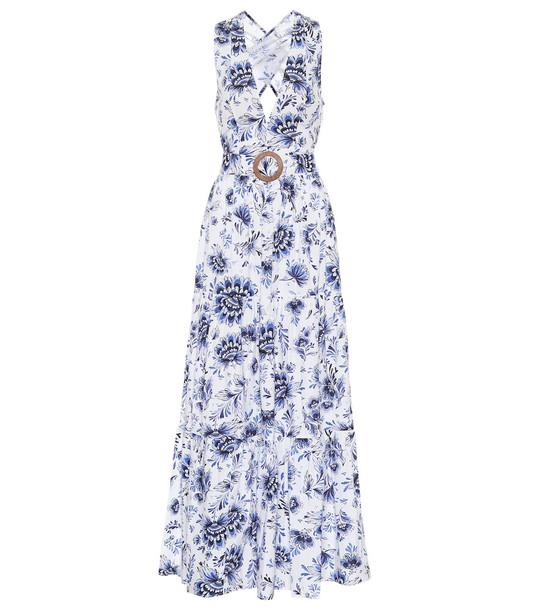 Alexandra Miro Exclusive to Mytheresa – Diana printed cotton dress in blue