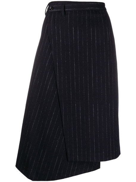 Dorothee Schumacher striped asymmetric skirt in blue