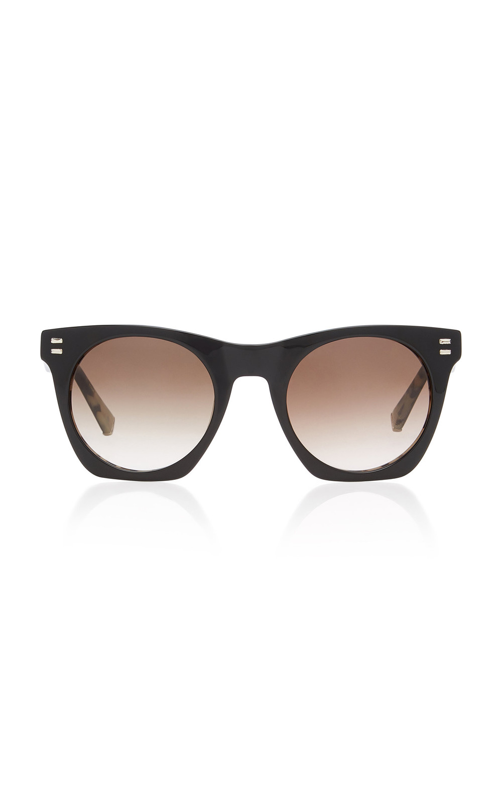 Kate Young Aylin Square-Frame Acetate Sunglasses in black