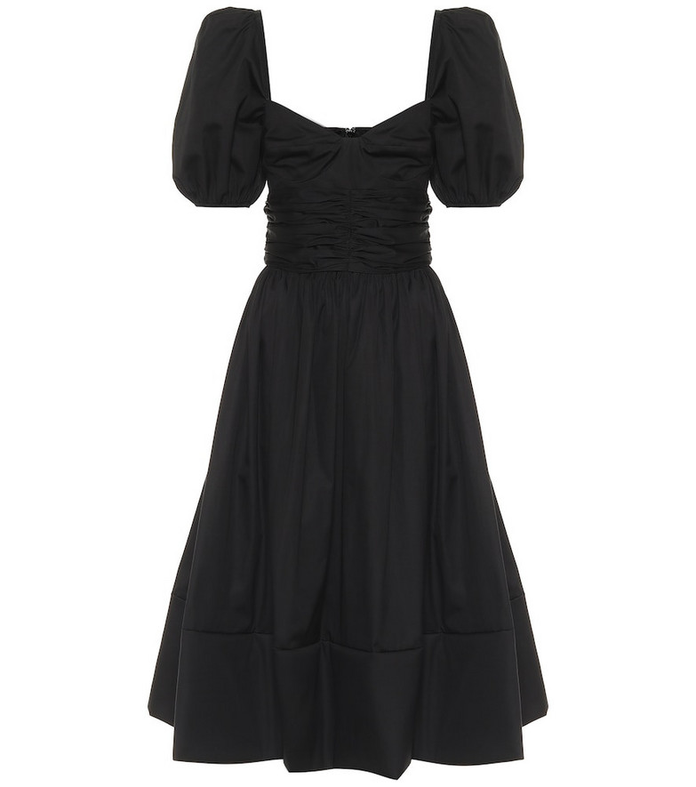 Brock Collection Rosette cotton midi dress in black