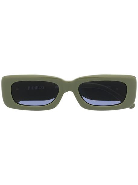 Linda Farrow x The Attico rectangular frame sunglasses in green