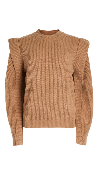 Isabel Marant Bolton Cashmere Pullover in camel