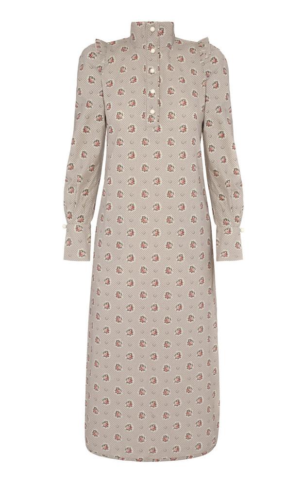 Anna Mason Agnes Midi Button Up Dress in neutral