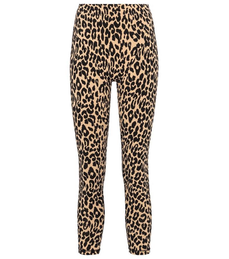 Adam Selman Sport French Cut leopard-print leggings in beige