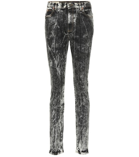 Gucci Mid-rise skinny jeans in black