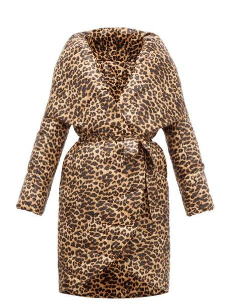 Norma Kamali - Shawl-lapel Leopard-print Technical-shell Coat - Womens - Leopard