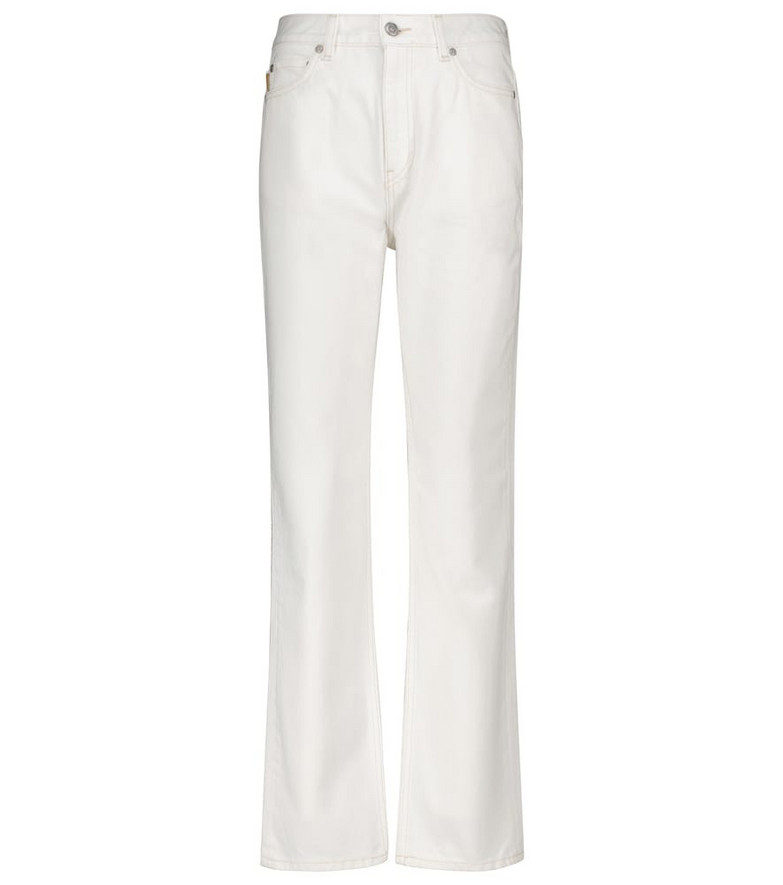 GANNI High-rise jeans in white