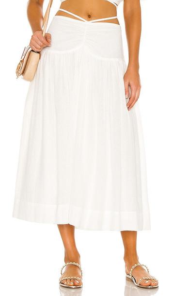 JONATHAN SIMKHAI Katya Skirt in White