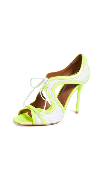 Malone Souliers Sami 100 Pumps in white / yellow