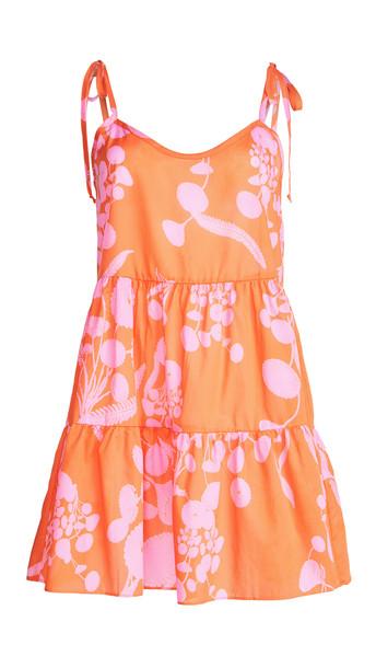 Hanky Panky Orange Crush x Cynthia Rowley Chemise in pink / red