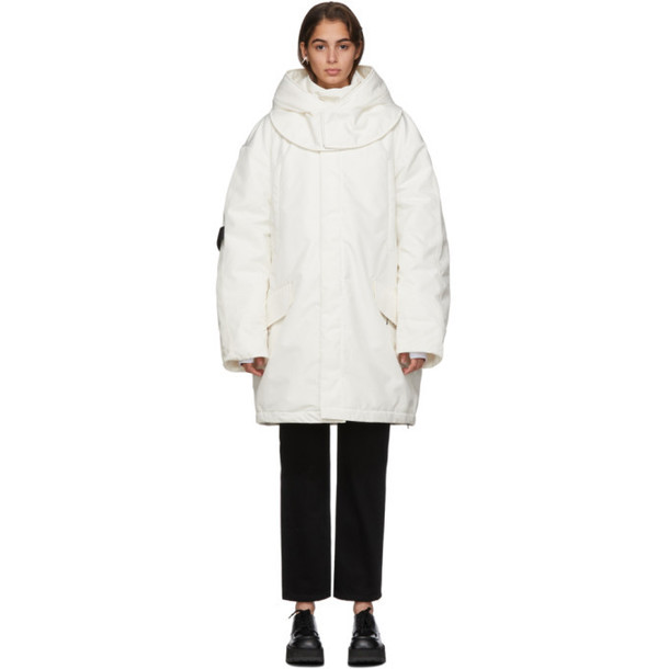 Raf Simons White Templa Edition Oversized Wadded Ski Coat