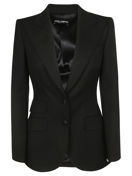 Dolce & Gabbana Fitted Blazer in black