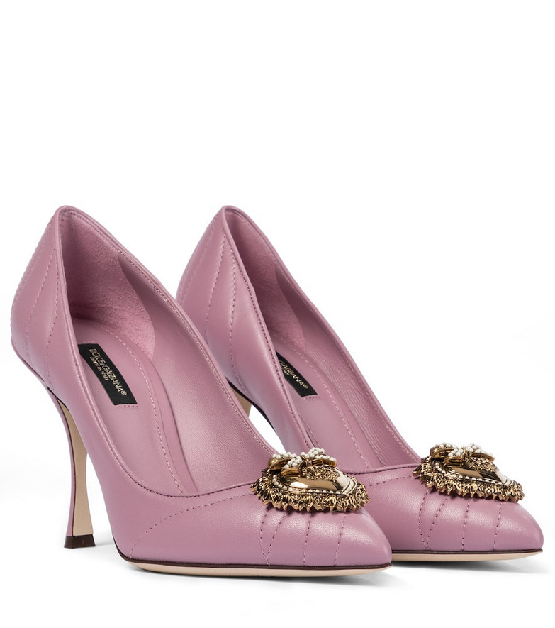 Dolce & Gabbana Devotion leather pumps in pink