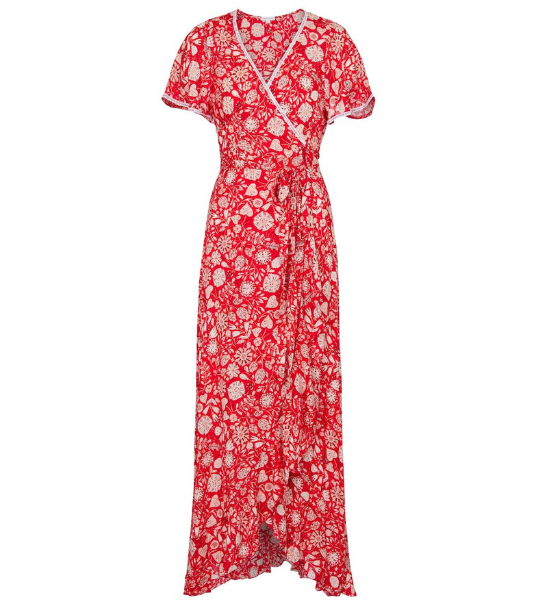 Poupette St Barth Exclusive to Mytheresa – Joe floral wrap dress in red