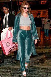 coat,velvet,pants,sofia richie,celebrity,crop tops