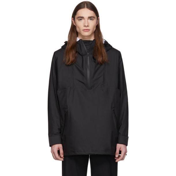 Burberry Black Logo Pull Over Jacket