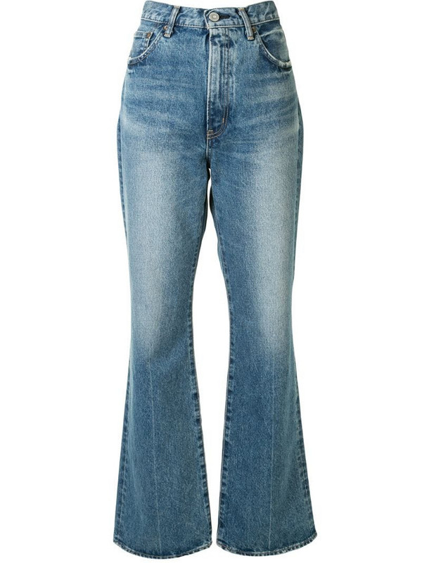 Moussy Vintage Luna straight flared jeans in blue