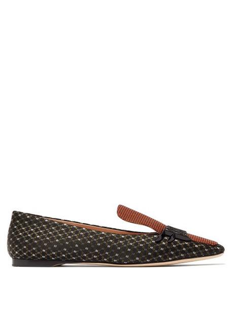 Fendi - Ffreedom Square Toe Jacquard Loafers - Womens - Multi