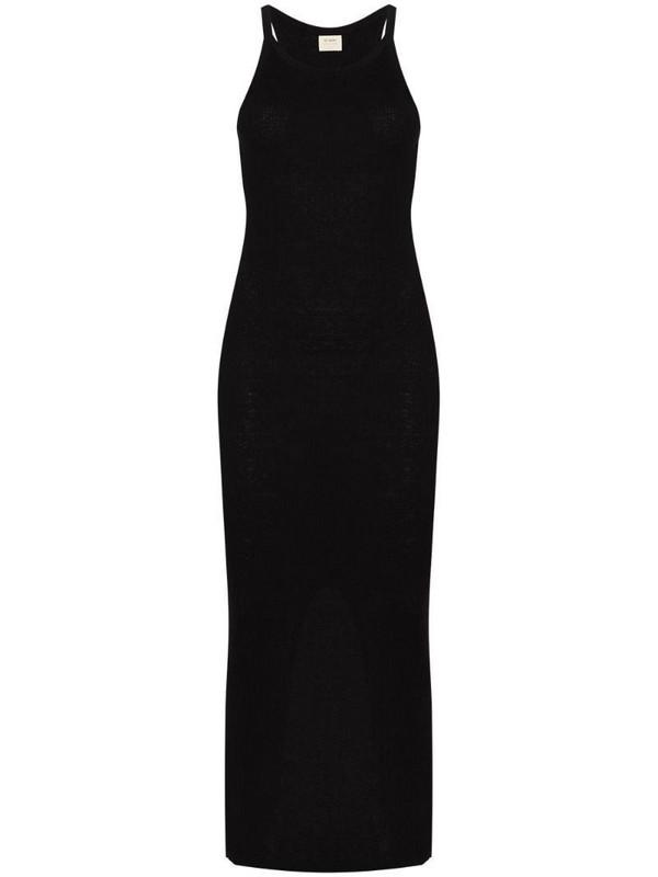 St. Agni Iman linen knit tank dress in black