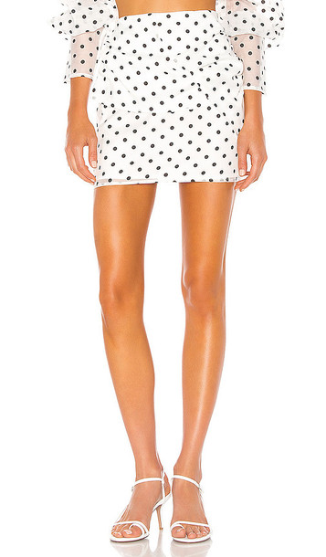 Camila Coelho Sadie Mini Skirt in White
