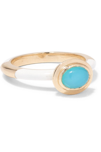Alice Cicolini - Candy 14-karat Gold And Enamel Opal Ring
