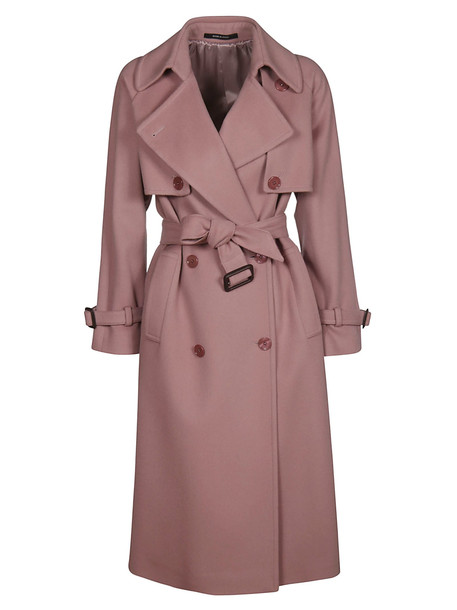 Tagliatore Double Breasted Coat in pink