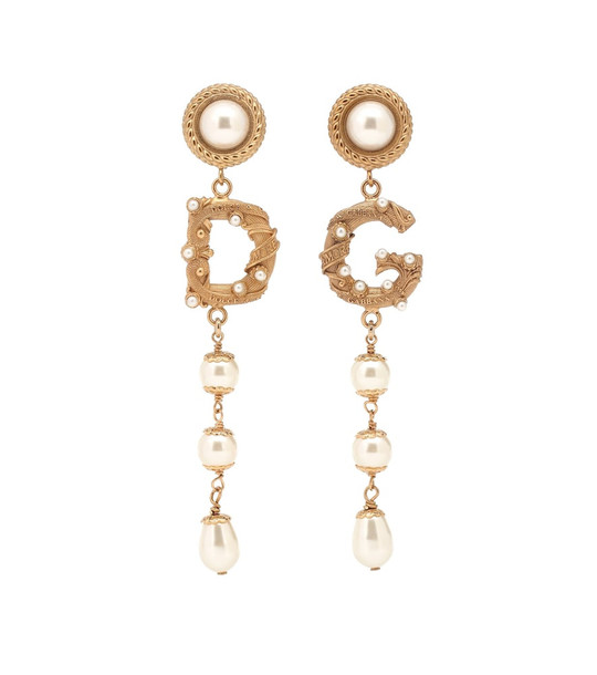 Dolce & Gabbana Clip-on drop earrings in gold