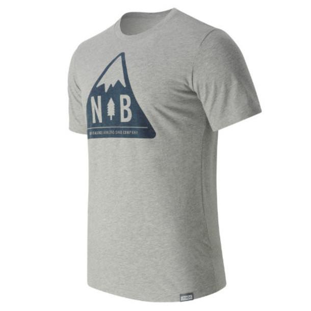 New Balance 63511 Men's Mountain Patch Tee - Grey (MT63511AG)