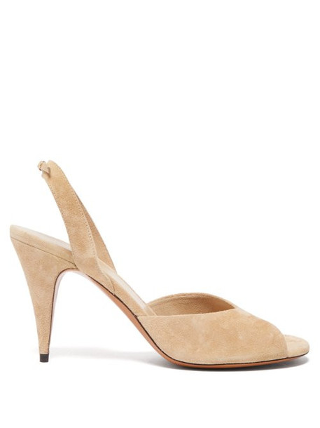 The Row - Swing Suede Slingback Sandals - Womens - Beige