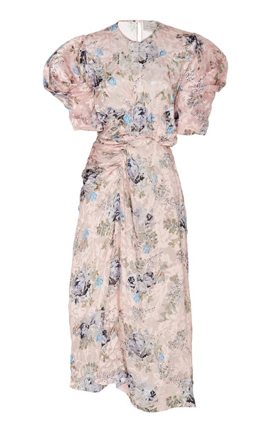 Preen by Thornton Bregazzi Pippa Floral Jacquard Dress in pink