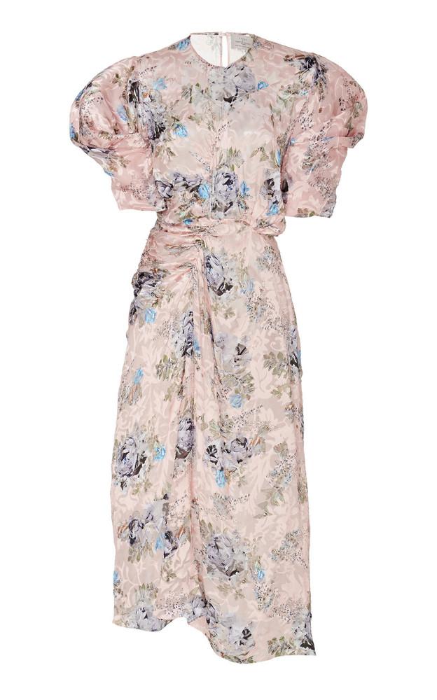 Preen by Thornton Bregazzi Pippa Floral Jacquard Dress in pink
