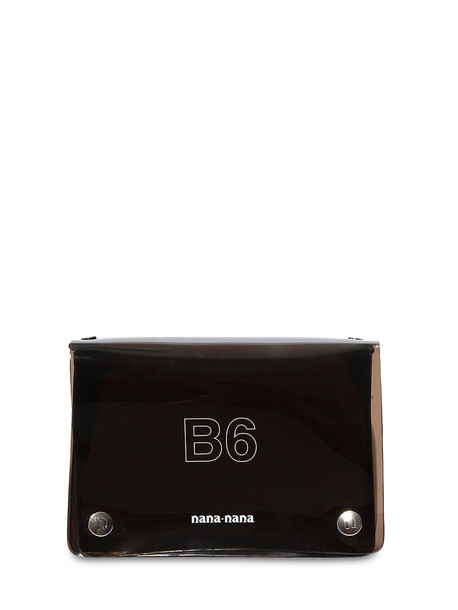 NANA NANA B6 Pvc Crossbody Bag in black