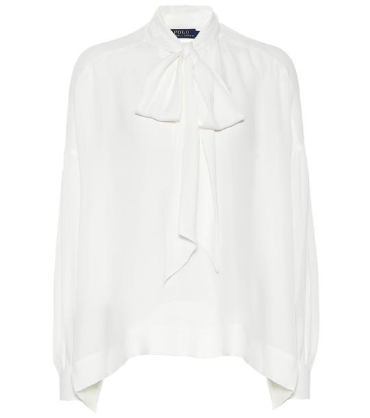 Polo Ralph Lauren Silk blouse in white