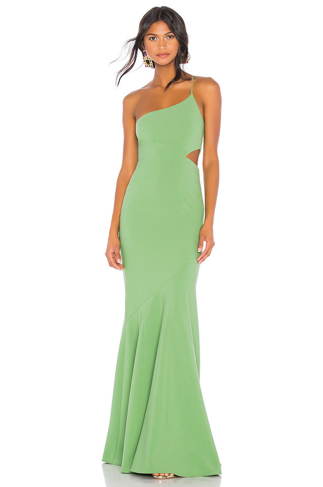 LIKELY x REVOLVE Fina Gown in green