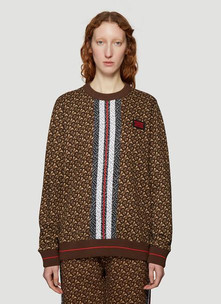 Burberry Monogram Sweatshirt in Brown size XS