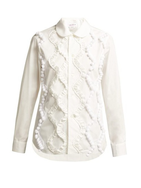 Comme Des Garçons Girl - Ruffled Cotton Shirt - Womens - White