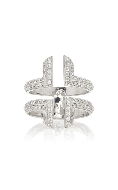 Ralph Masri 18K White Gold Diamond Ring