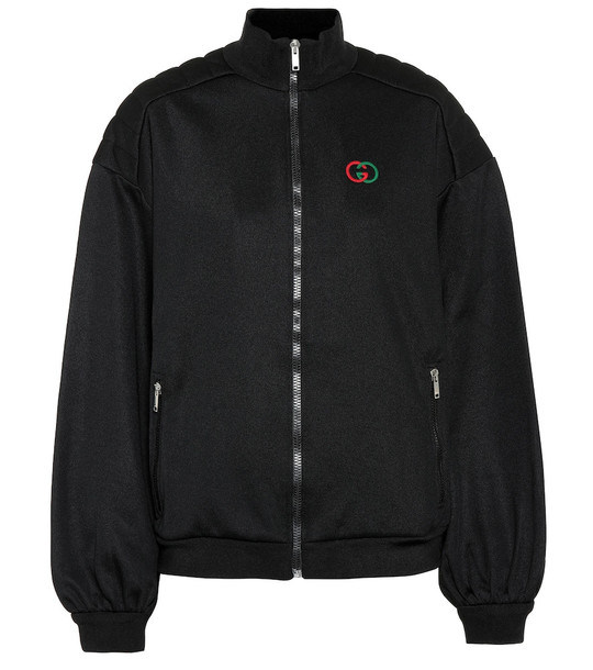 Gucci Technical jersey track jacket in black