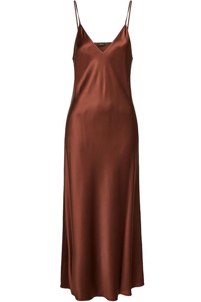 Joseph Clea Silk Dress in brown