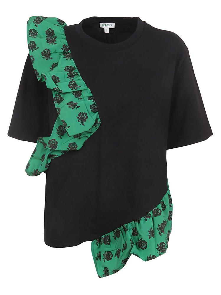 Kenzo Ruffled T-shirt in black