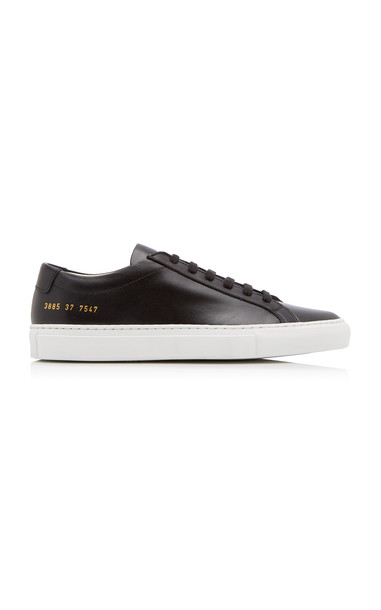 Common Projects Original Achilles Two-Tone Leather Sneakers in black