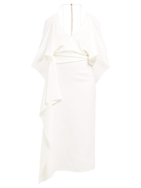 Roland Mouret - Vincent Draped Crepe Dress - Womens - White