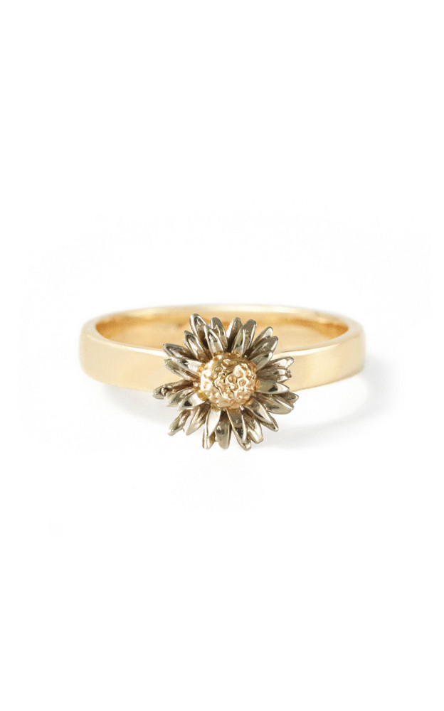 Bernard James Daisy 14K Yellow and White Gold Ring in multi